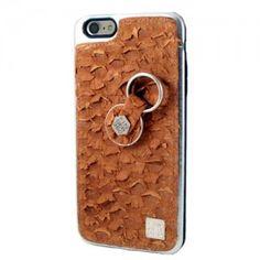 Carcasa iPhone 6 o 6S Plus Piel tilapia marrón genuina. Finger 360 #carcasa #tilapia #anticaidas #anillo #Finger360 #liso #piel_tilapia #iphone6 #iphone6plus #marron #piel #funda_piel #natural