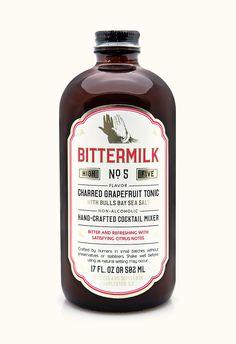 Specialty Gourmet :: Bittermilk No 3 Smoked Honey Whiskey Sour Honey Whiskey, Whiskey Sour, Cocktail Mixers, In Vino Veritas, Gin And Tonic, Tonic Water, Non Alcoholic, Mixed Drinks, Grapefruit