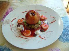 Pomme   cuit  au    vin rouge  et fruits      Gino D'Aquino