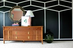 Well Traveled Master Bedroom Makeover - DO NOT miss this master bedroom! It combines bold black and white, a touch of green, pink and a dash of Palm Beach!