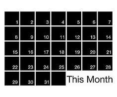Lavagna in vinile Mindwall Month - 90x60 cm