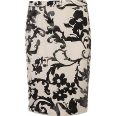 MOSCHINO CHEAP & CHIC Wedgewood Print Pencil Skirt