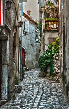 street in Krk by Sanja Dedić on (Croatia) Beautiful Streets, Beautiful Places, Places To Travel, Places To See, Travel Things, Europe Street, Side Road, Central And Eastern Europe, Croatia Travel