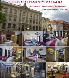LUKSUS APARTAMENTY -MARIACKA Szczecin Zapraszają do rezerwacji !   Book now !   Buchen Sie jetzt !  Rezerwacja / Reservierung / Reservation: : www.apartmentszczecin.com e-mail: apartment@onet.eu