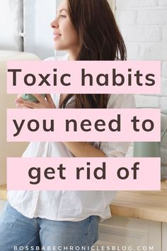 Most of us have toxic habits which we would be so much better off without! Here are some common toxic habits you should get rid of, and instead replace them with healthy habits that will have you living your best life! List Of Habits, Good Habits, Healthy Habits, Productive Things To Do, Habits Of Successful People, Life Organization, Live For Yourself, Personal Development, Rid