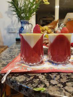 My panna cotta with strawberries