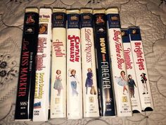 Shirley Temple Lot of 9 VHS Tapes Colorized Heidi Dimples Princess Bright Eyes