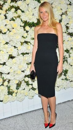 Gwyneth Paltrow at the Victoria Beckham Collection Celebration. See the other celebrities on the mid-April party scene and what they wore.