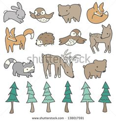 Woodland Animals Stock Photos, Royalty-Free Images & Vectors ...