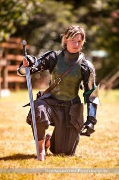 Samantha Strong/ 2013 winner of the longsword event in the Harcourt Park World Invitational Jousting Tournament (she also designs her own swords.)