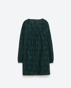 Love this kind of shape dresses on me. SCHIFFLI LACE DRESS from Zara