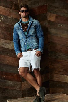 Chad White Models Michael Bastians Southwest Inspired Spring 2015 Collection