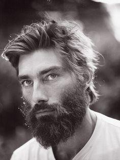 Man with beard.