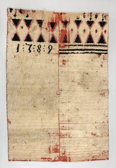 rya | wool | 2 panels | Bälinge parish, Uppland, Sweden | 1789