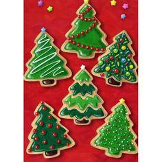 Christmas Cookies House Flag christmas cookies Minimalist Christmas Tree Sugar Cookies by GingerSnapMarket Christmas Tree Cookies, Iced Cookies, Christmas Sweets, Christmas Cooking, Noel Christmas, Christmas Goodies, Holiday Cookies, Easy Christmas Cookies Decorating, Baking Cookies