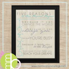 Five Reasons to Love Personal Progress | Mormon Mommy Printables