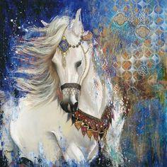 Art Print: Jardin Sauvage by Valérie Maugeri : Pferde in Kunst & Bildern :-) Painted Horses, Pretty Horses, Beautiful Horses, Horse Drawings, Art Drawings, Art Carte, Horse Artwork, Poster Art, Inspiration Art
