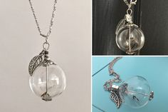 Make a wish! This dandelion seed globe necklace will be your reminder of that every time you put it around your neck. This would make a fantastic gift!