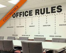 Office Wall Design, Office Wall Decals, Office Walls, Office Decor, Office Art, Tile Decals, Vinyl Wall Decals, Wall Sticker, Office Team