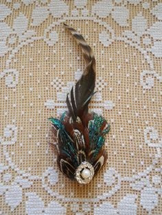 Handmade Peacock and Pheasant Feather by TallTalesVintage on Etsy, $20.00