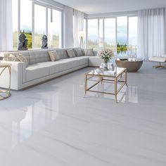 Porcelanato Biancogres: Dolomite Bianco 52,7x105  #colecaomarmores #marmores #marmorizado #porcelanato #revestimento #polido #retificado #biancogres #sala