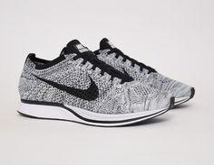 #Nike Flyknit Racer White Black #sneakers