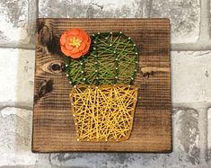 Cactus String Art/ Cactus Decor, Cactus, Cacti, String Art, Boho Decor, Bohemian, Cactus Wall Art
