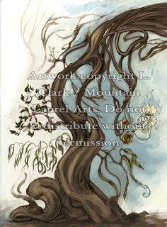 5 x 7 Art Print  Surreal Botany Digital Painting by mtnlaurelarts