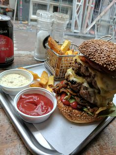 """[I ate] A """"standard"""" large burger in Amsterdam"""
