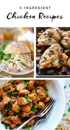 Whip up easy dinners for the week with these 5-ingredient chicken recipes.