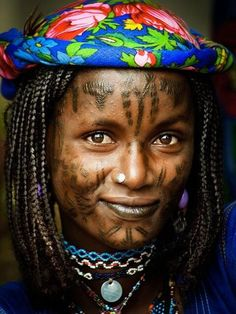 Cameroon;  a woman of the Mbororo (a Fulani Tribe)