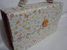 Bolsa manicure em cartonagem revestida em tecido - Pesquisa Google