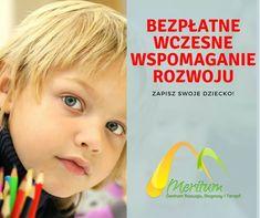 Bezpłatne ⚠️ wczesne wspomaganie rozwoju dzieci ⚠️ w wieku od urodzenia do rozpoczęcia nauki w szkole już w Meritum. Zapewniamy profesjonalistów i najlepszych specjalistów dziecięcych. Zapisz swoje dziecko!