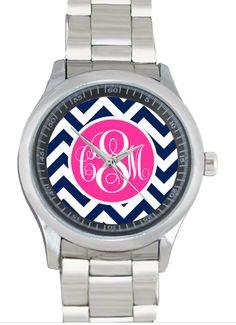 tinytulip.com - Monogrammed Stainless Steel Boyfriend Watch, $46.50 (http://www.tinytulip.com/monogrammed-stainless-steel-boyfriend-watch)