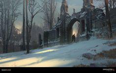 Uncharted 4 - Scotland Gate, Nick Gindraux on ArtStation at https://www.artstation.com/artwork/GzRkB