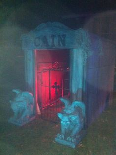 A mausoleum for the yard. Step inside, if you dare....