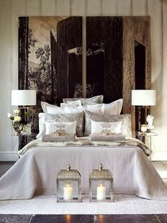 Black and silver theme modern bedroom
