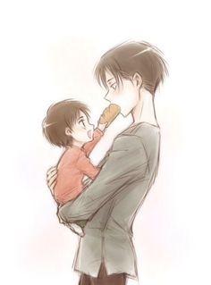 Baby Eren and Levi KAWAIII