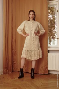 Kjole i Lala Berlin Lovely Cotton, kjøp den som strikkepakke hos HoY.no Knitting, Berlin, Cotton, Dresses, Fashion, Threading, Vestidos, Moda, Tricot