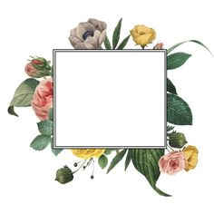 Floral frame - Wallpaper World Wallpaper Backgrounds, Iphone Wallpaper, Wallpapers, Background Diy, Deco Floral, Floral Border, Art Graphique, Vintage Diy, Flower Frame
