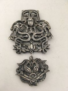 Jewelry & Watches Fine Jewelry By Leon Unusual Late C20th Designer Silver Brooch/ Pendant