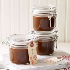 To drizzle, dip, or dunk, this irresistible homemade caramel sauce will inspire your loved one to add a little caramel to ice cream, fruit, cakes, and more. Bonus: It's easy to make a big batch, so you can fill a jar for everyone on your list.