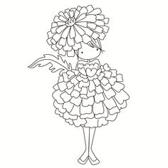 Look what I found on AliExpress Colouring Pages, Adult Coloring Pages, Coloring Books, Embroidery Patterns, Hand Embroidery, Art Fantaisiste, Tampons Transparents, Whimsical Art, Drawing For Kids