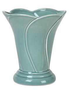 Peacock Blue Vase - Haeger Potteries