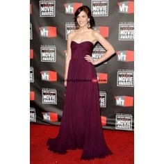 Mandy Moore Strapless Purple Gown Celebrity Dress For Less Critics Choice Awards 2011