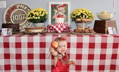 Apple Of My Eye Birthday Party - Project Nursery First Birthday Party Themes, Birthday Party Celebration, Birthday Bash, Birthday Ideas, Apple Birthday, Apple Tea, Project Nursery, Halloween, First Birthdays