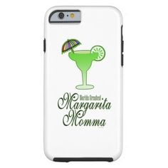 Worlds Greatest Margarita Momma Phone Case This funny design features a margarita cocktail glass in green with a lime and cocktail umbrella. This girls margarita party animal design makes a great gift for your Margarita mom or a bartender at your favorite bar or club or home bar ! #Margarita #Cocktail #Momma
