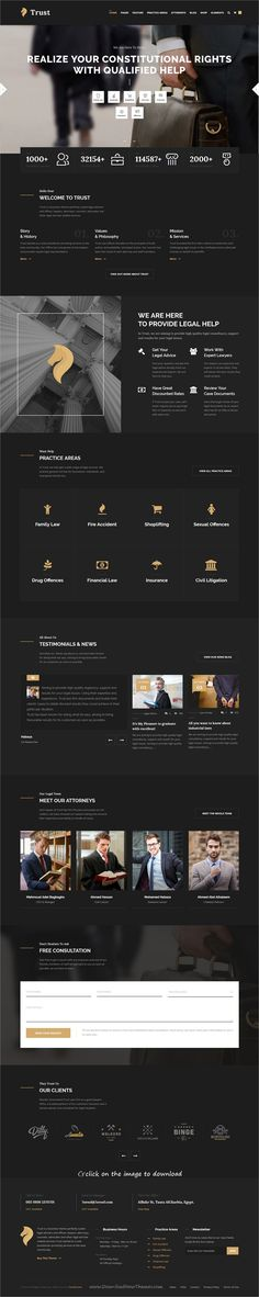 Trust Business is clean and modern design responsive WordPress theme for lawyer, attorney, #advocate and law firms professional website with 21+ unique homepage layouts to download click on image #webdevelopment