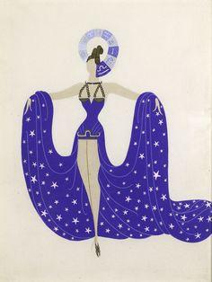 Erte (Romain de Tirtoff, 1892 – 1990) design for a Costume Dress: Libra' 1930