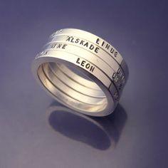 Handmade #Weddingrings. One for each familymember!